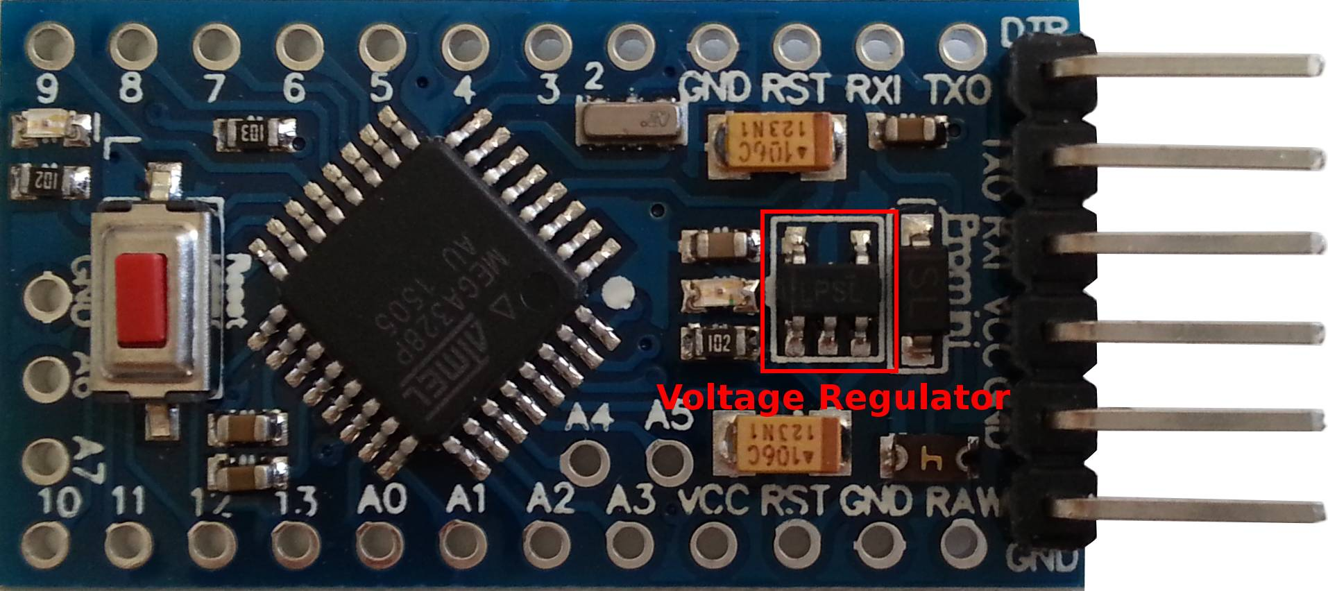How to modify an Arduino Pro Mini (clone) for low power consumption