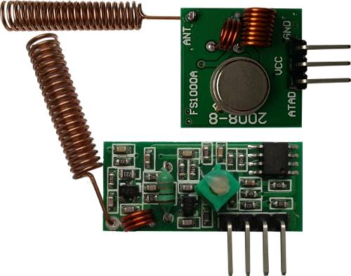 New Arduino library for 433 MHz AM radio modules